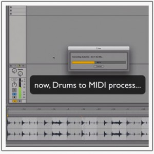 Ableton Live 9 drums to midi melody to midi harmony to midi